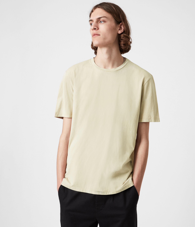 AllSaints Men's Wyatt Crew T-Shirt, Baron Taupe, Size: L