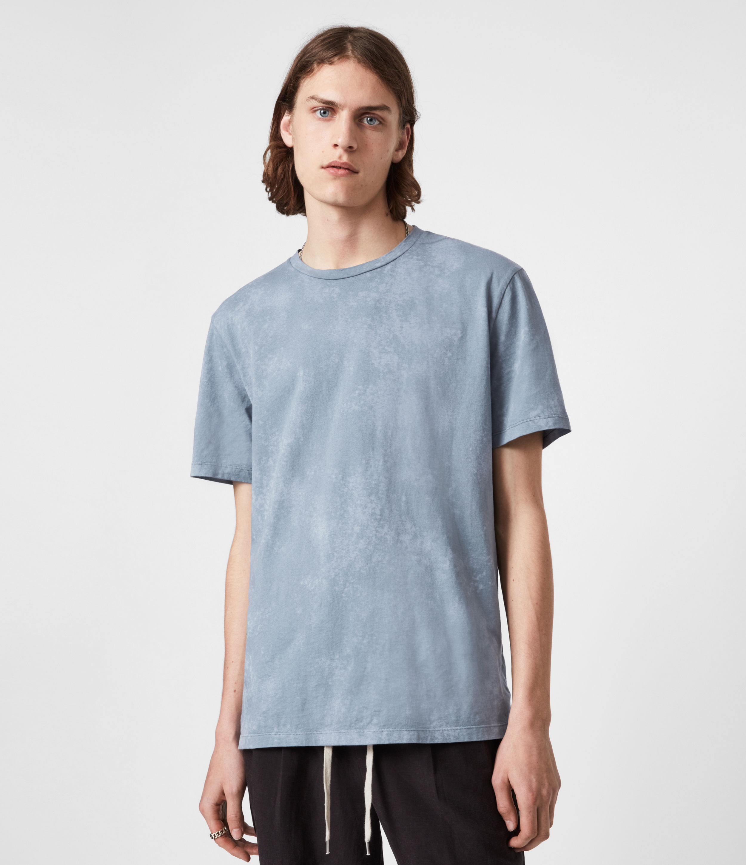 AllSaints Mens Wyatt Crew T-Shirt, Twilight Grey, Size: M