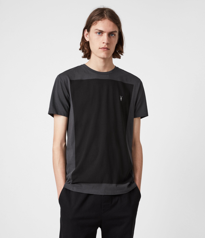 AllSaints Men's Lobke Crew T-Shirt, Washed/jet Black, Size: XXL
