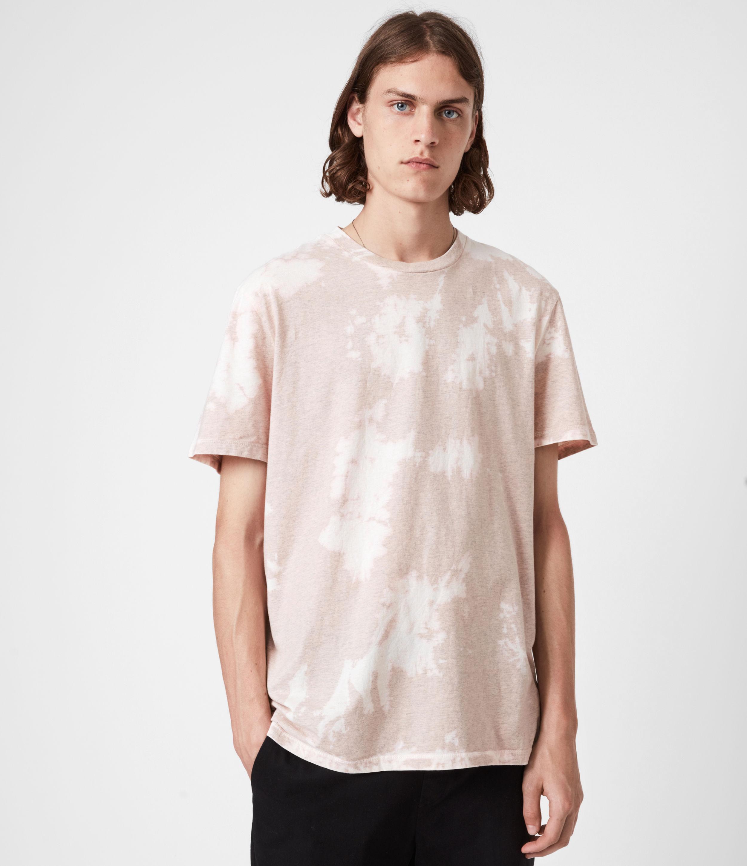 AllSaints Men's Phillips Crew T-Shirt, Peach Pink, Size: XXL