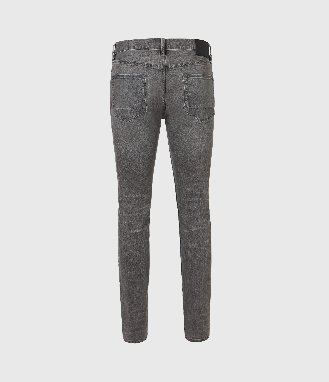 AllSaints Mens Cigarette Skinny Jeans, Dark Grey, Size: 32