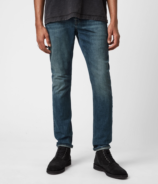 AllSaints Mens Rex Slim Jeans, Washed Indigo, Size: 36
