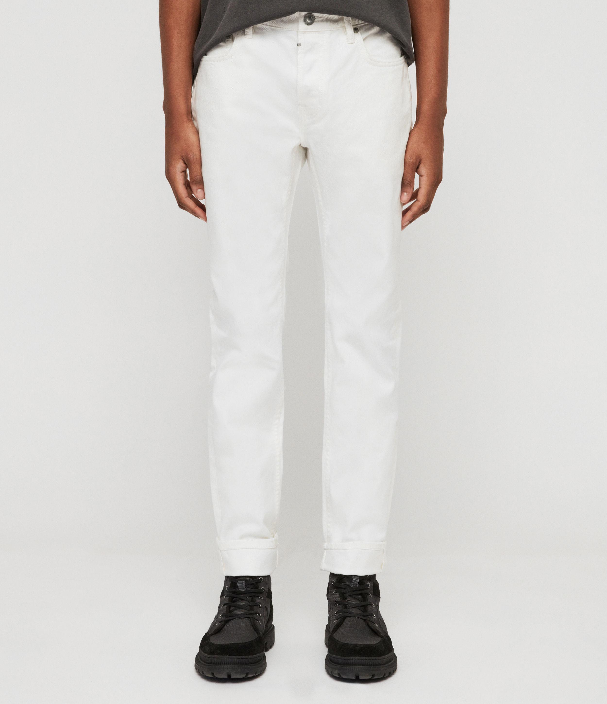 AllSaints Rex Slim Jeans, Chalk