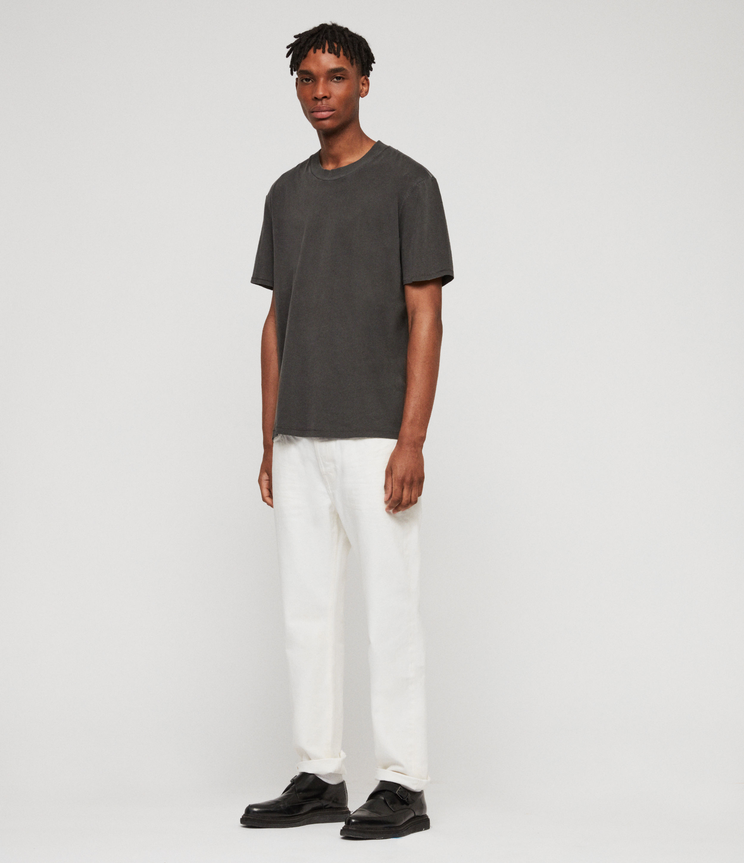 AllSaints Ridge Tapered Jeans, Chalk