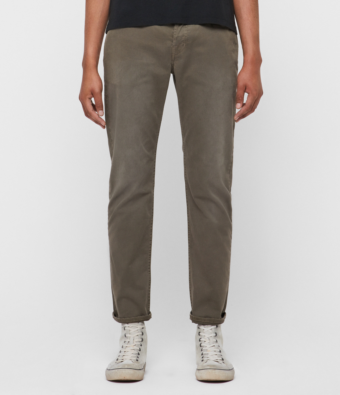 AllSaints Carter Twill Straight Jeans, Beech Green