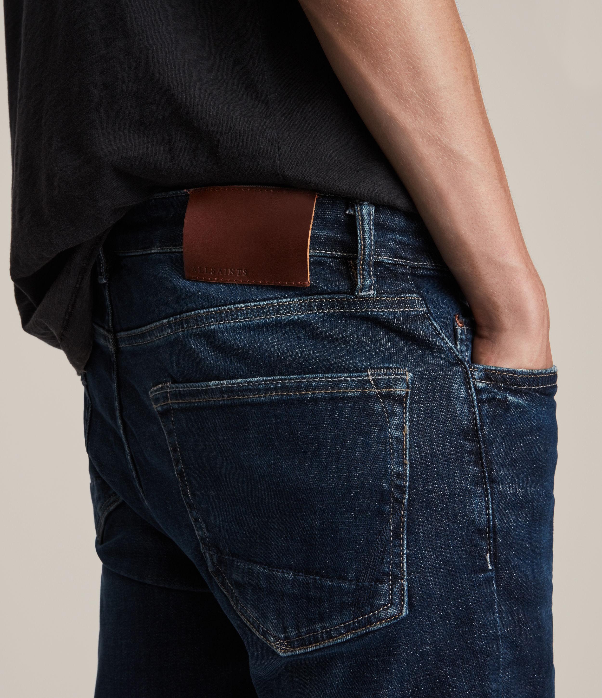 AllSaints Men's Cotton Cigarette Skinny Jeans, Blue, Size: 31