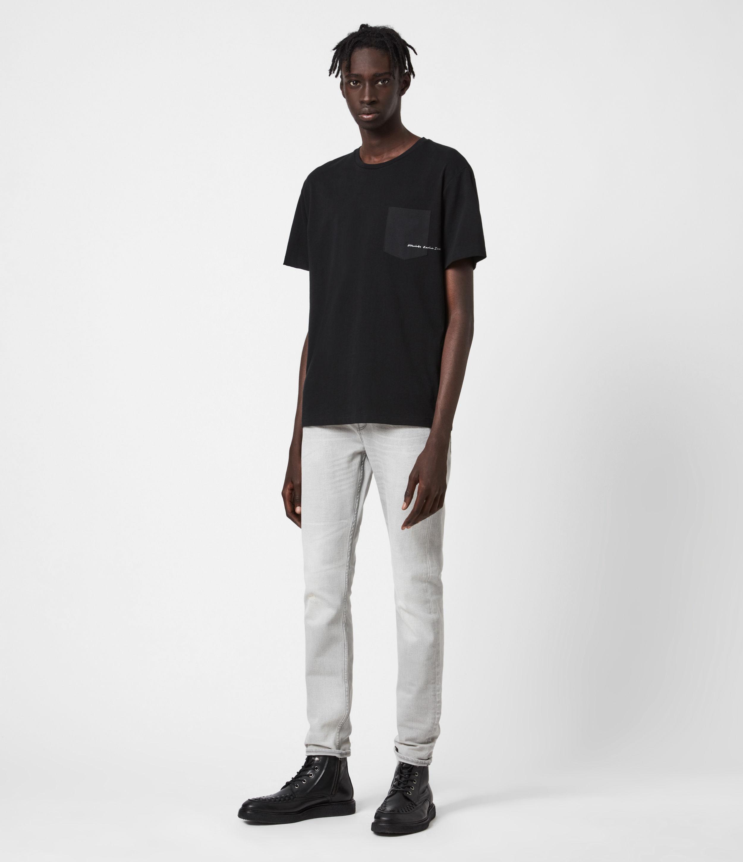 AllSaints Mens Cigarette Skinny Jeans, Grey, Size: 38