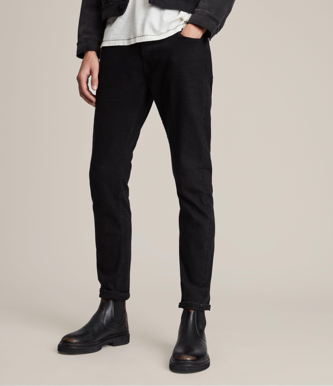 AllSaints Rex Slim Jeans, Jet Black