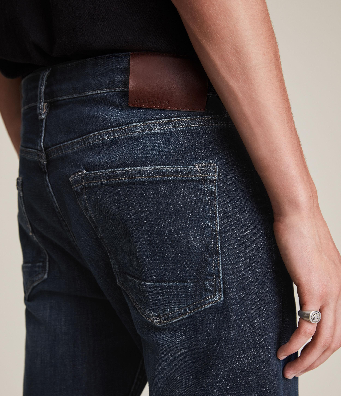 AllSaints Men's Cotton Traditional Rex Slim Jeans, Blue, Size: 32