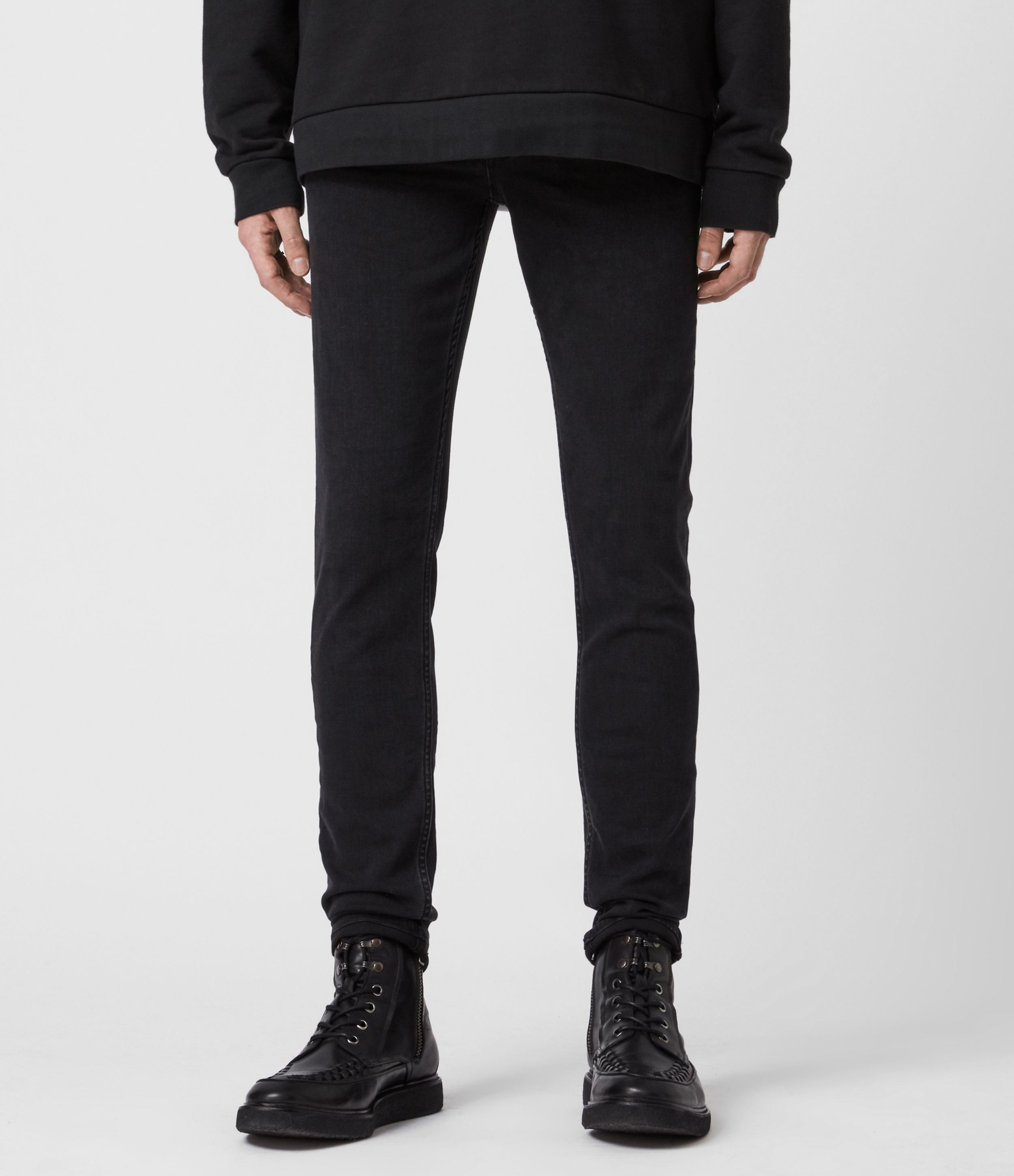 AllSaints Ronnie Extra Skinny Jeans, Washed Black