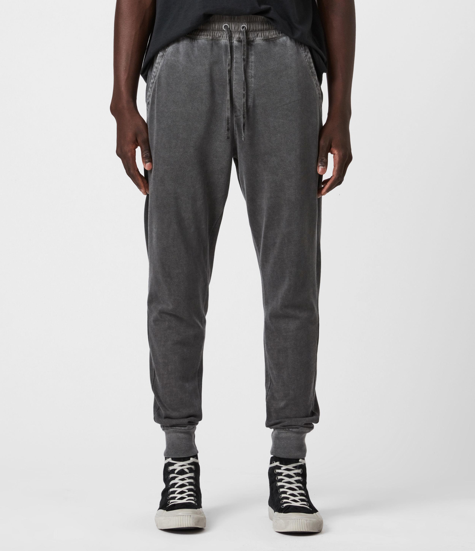 AllSaints Mens Liam Cuffed Regular Sweatpants, Washed Black, Size: M