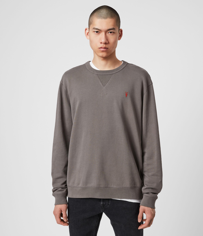 AllSaints Mens Phoenix Crew Sweatshirt, Grey, Size: S