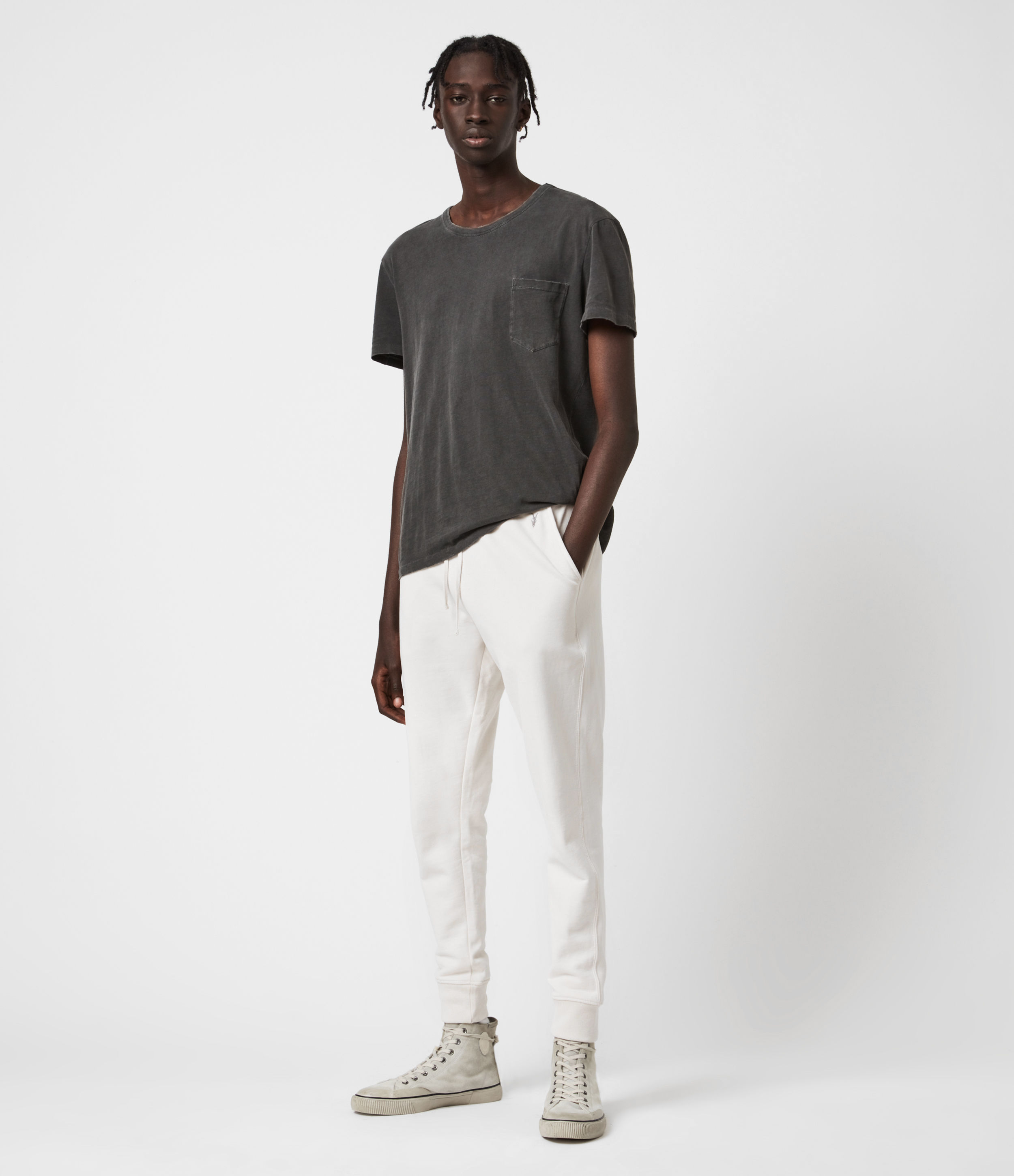 AllSaints Raven Cuffed Slim Sweatpants