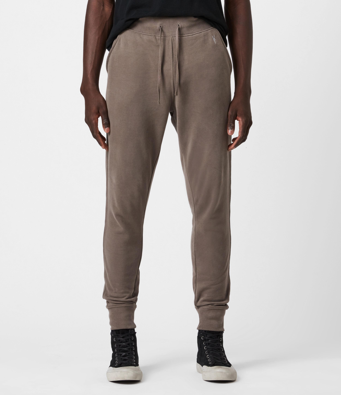 AllSaints Mens Raven Cuffed Slim Sweatpants, Washed Khaki Brown, Size: XS