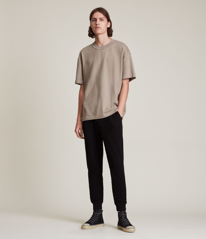 AllSaints Men's Muse Cuffed Slim Sweatpants, Jet Black, Size: L