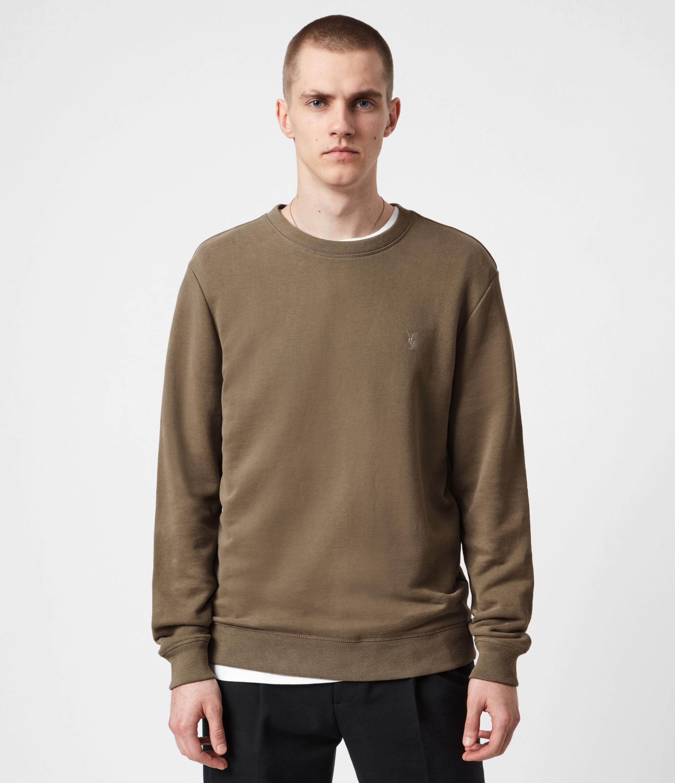 AllSaints Men's Raven Sweatshirt, Mangrove Brown, Size: XXL