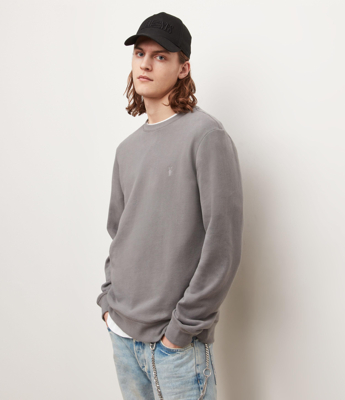 AllSaints Men's Raven Sweatshirt, Sacremento Green, Size: XS