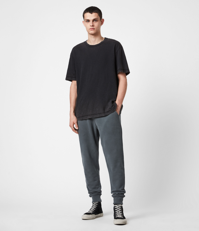 AllSaints Men's Raven Cuffed Slim Sweatpants, Mercer Green, Size: M
