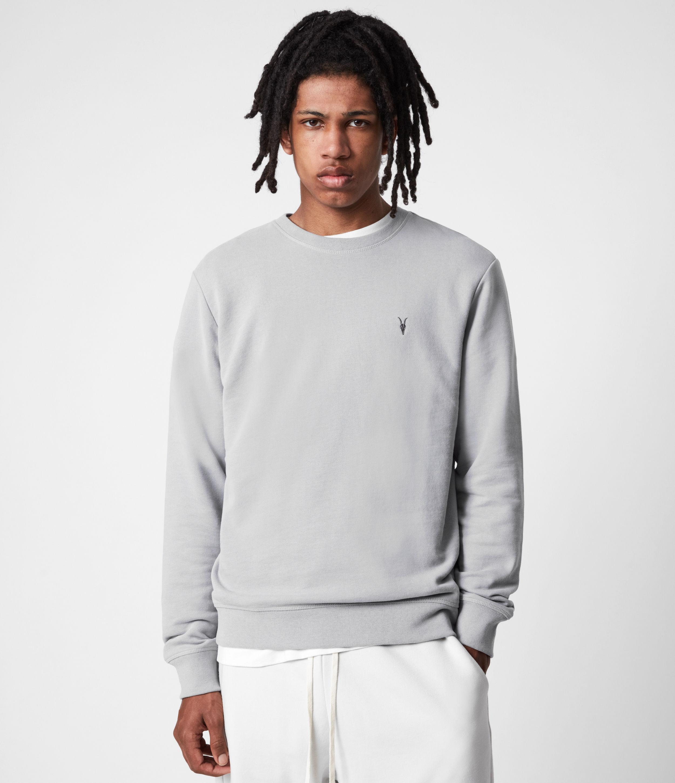 AllSaints Men's Raven Crew Sweatshirt, Granite Blue, Size: XXL