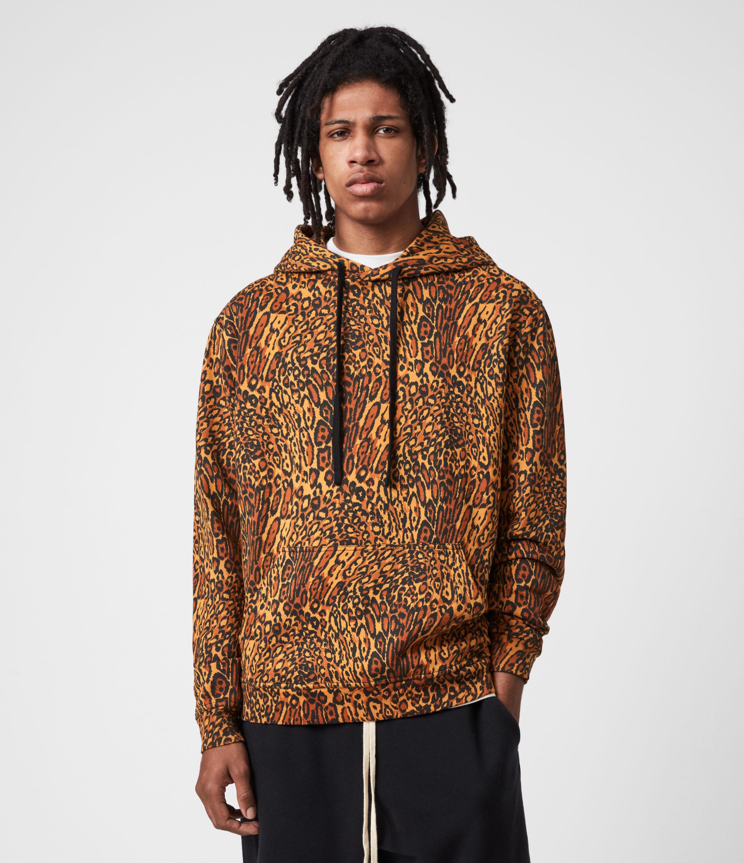 AllSaints Men's Bengali Pullover Hoodie, Sunrise Yellow, Size: XXL