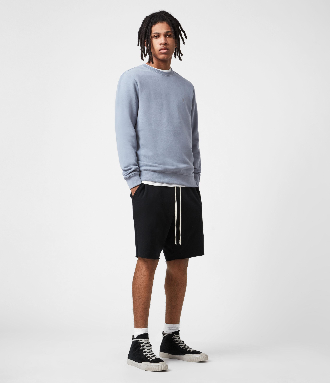 AllSaints Men's Cotton Slim Fit Raven Crew Sweatshirt, Grey, Size: XS