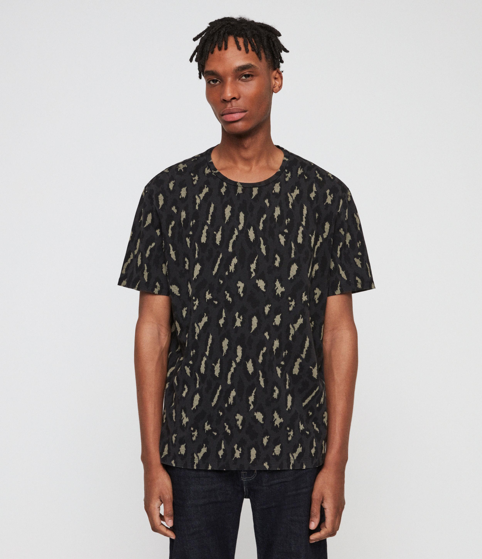 AllSaints Mens Catamount Crew T-Shirt, Vintage Black, Size: S