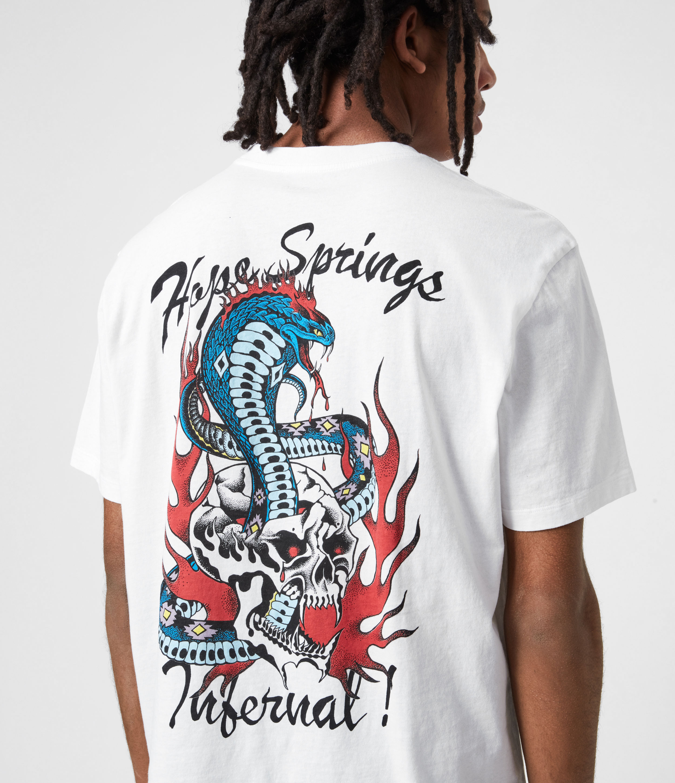 AllSaints Men's Viper Crew T-Shirt, Optic White, Size: XXL