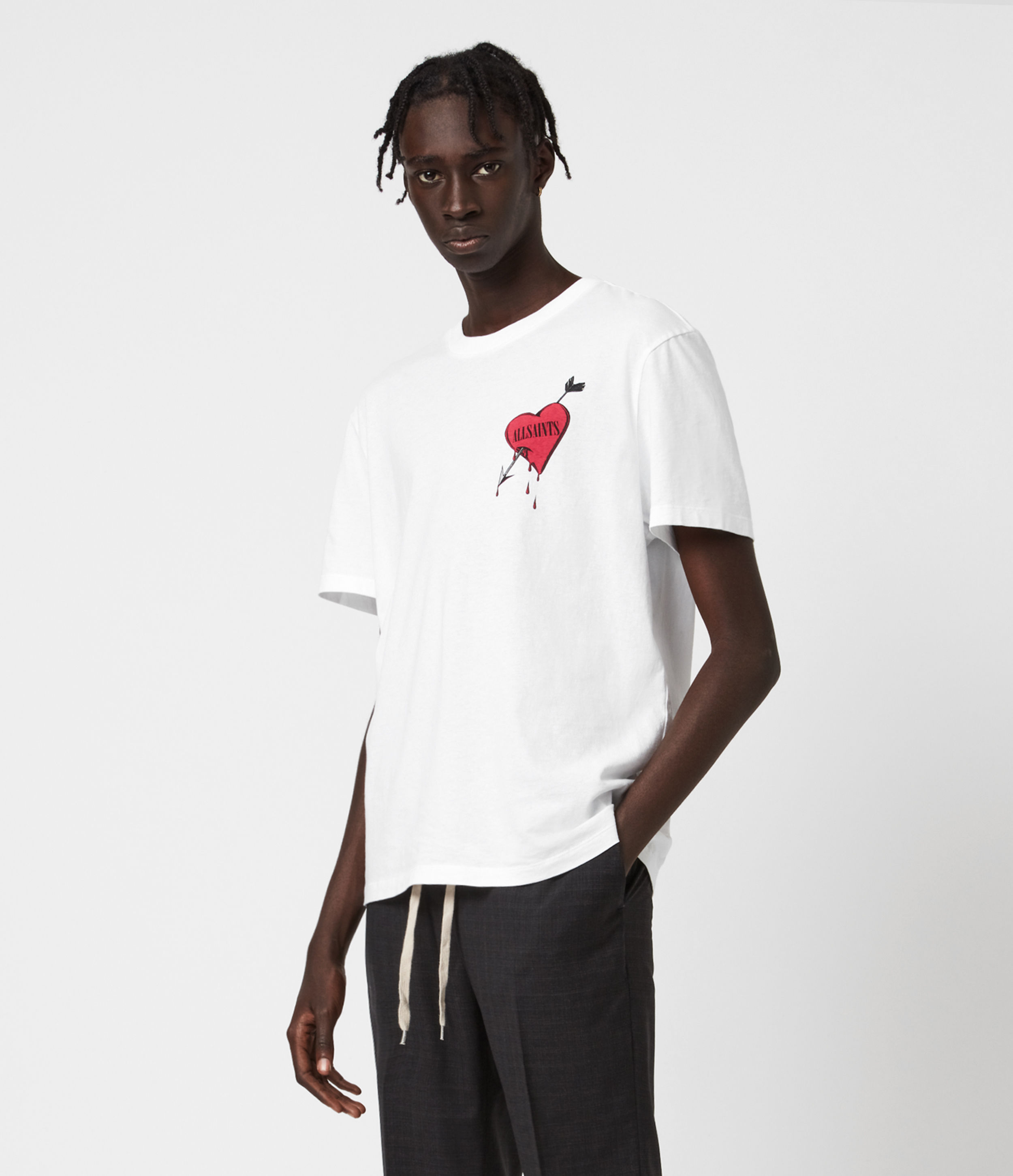 AllSaints Bleeding Heart Crew T-Shirt