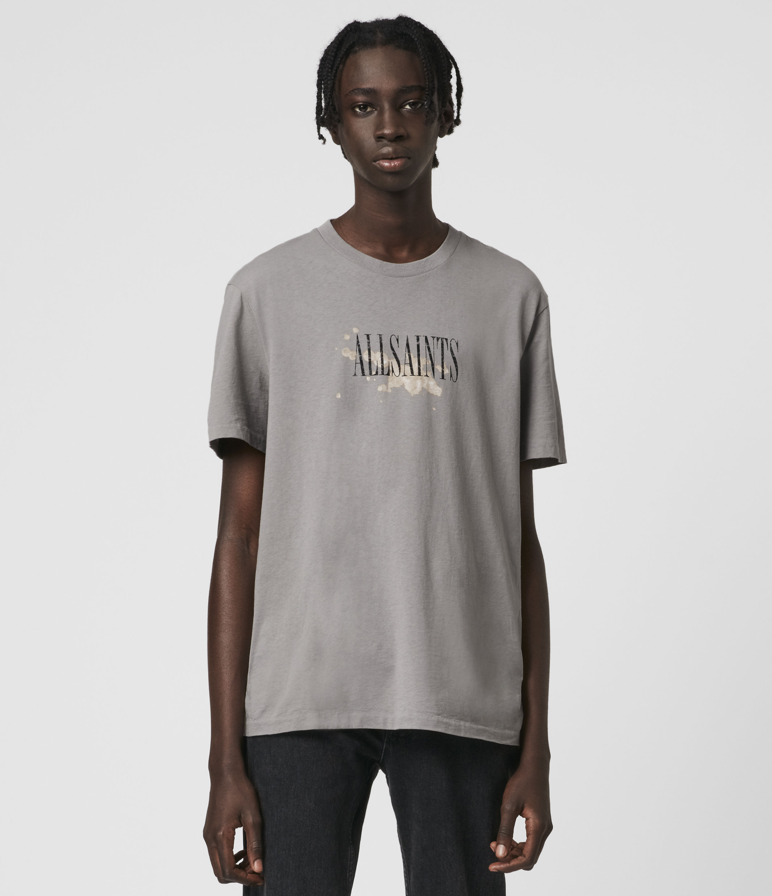 AllSaints Bleach Splash Crew T-Shirt