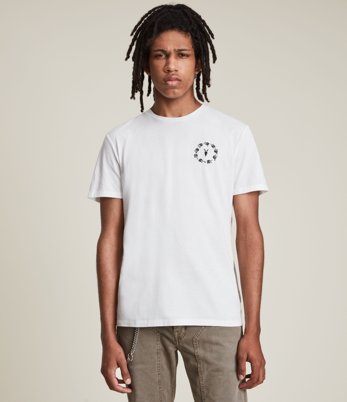 AllSaints Men's Bunch Brace Crew T-Shirt, Optic White, Size: XXL