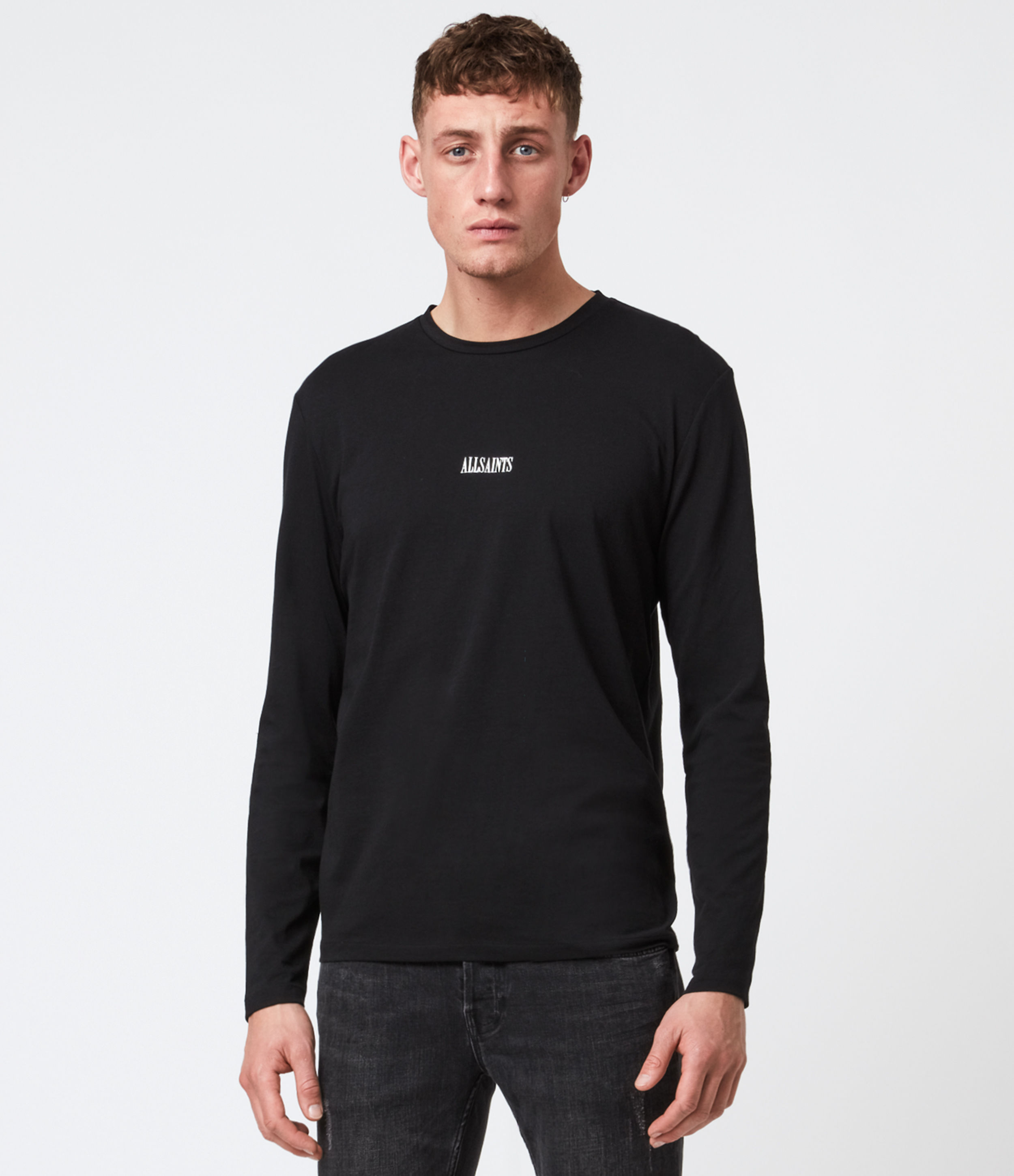AllSaints State Long Sleeve Crew T-Shirt