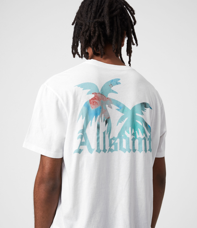 AllSaints Men's Malibeau Crew T-Shirt, Optic White, Size: XS