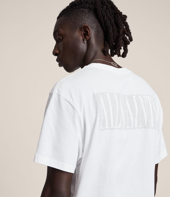 AllSaints Men's Integers Crew T-Shirt, Optic White, Size: M