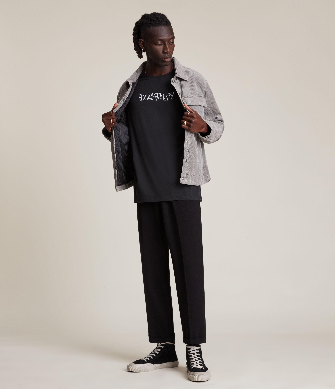 AllSaints Men's Starsaint Crew T-Shirt, Jet Black, Size: XS