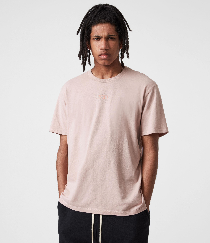 AllSaints Men's Opposition Crew T-Shirt, Balsastone Pink, Size: XXL
