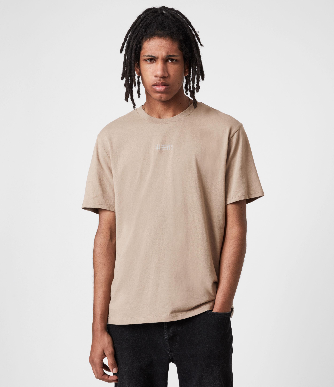 AllSaints Men's Opposition Crew T-Shirt, Pewter Grey, Size: XS