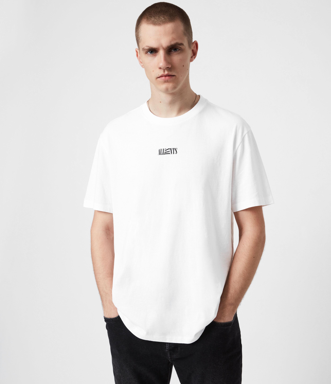 AllSaints Men's Opposition Crew T-Shirt, Optic White, Size: S