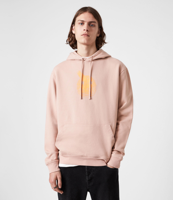 AllSaints Men's Acid Eagle Pullover Hoodie, Balsastone Pink, Size: S