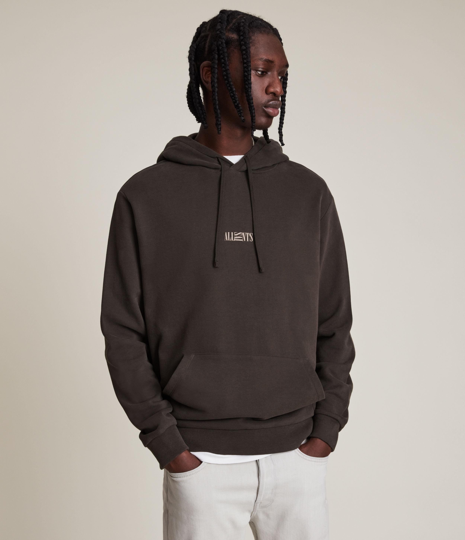 AllSaints Men's Opposition Pullover Hoodie, Khaki/acorn Brown, Size: L