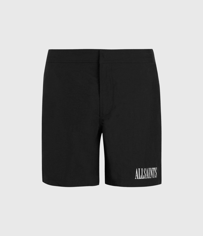 AllSaints Men's Regular Fit State Swim Shorts, Black, Size: S