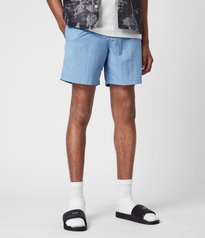 AllSaints Men's Warden Swim Shorts, Mirage Blue, Size: XL