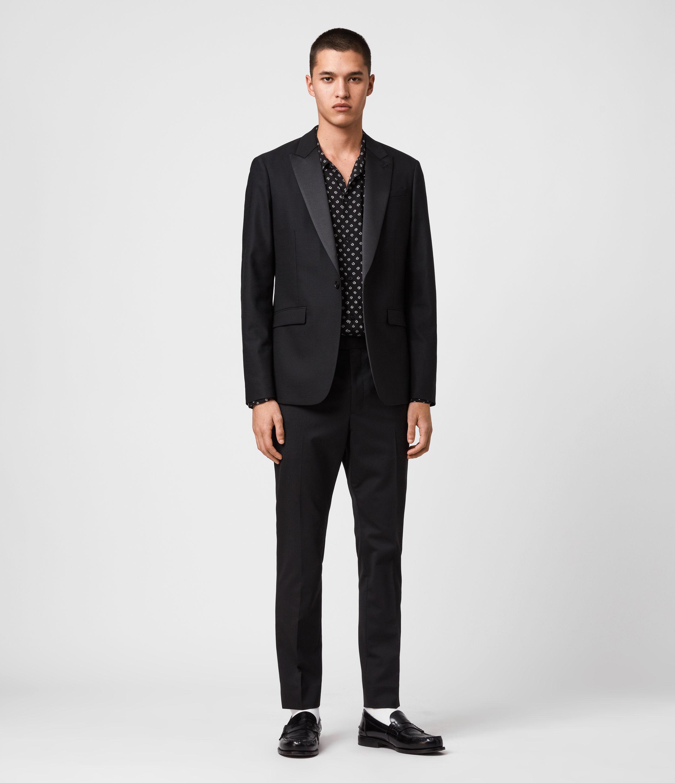 AllSaints Mens Fulbeck Blazer, Black, Size: 40