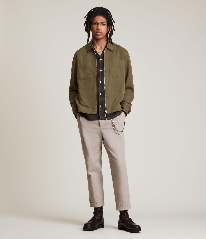 AllSaints Men's Wake Jacket, Khaki, Size: XL
