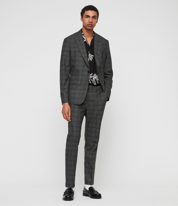 AllSaints Mens Rathbone Blazer, Grey, Size: 40