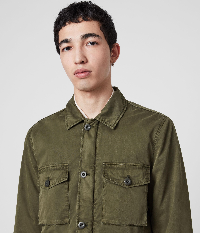 AllSaints Men's Cotton Lightweight Colridge Jacket, Green, Size: XS