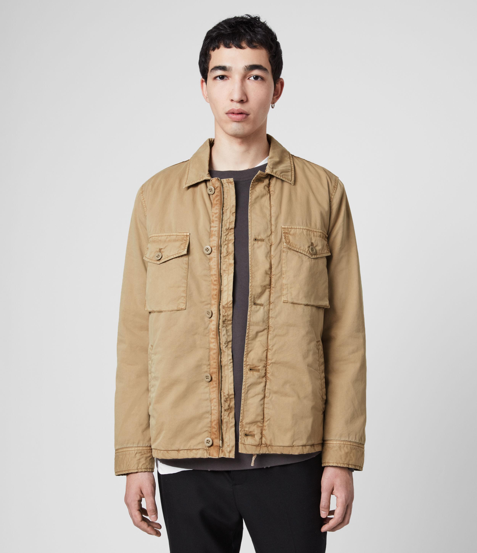 AllSaints Men's Cotton Lightweight Colridge Jacket, Brown, Size: M