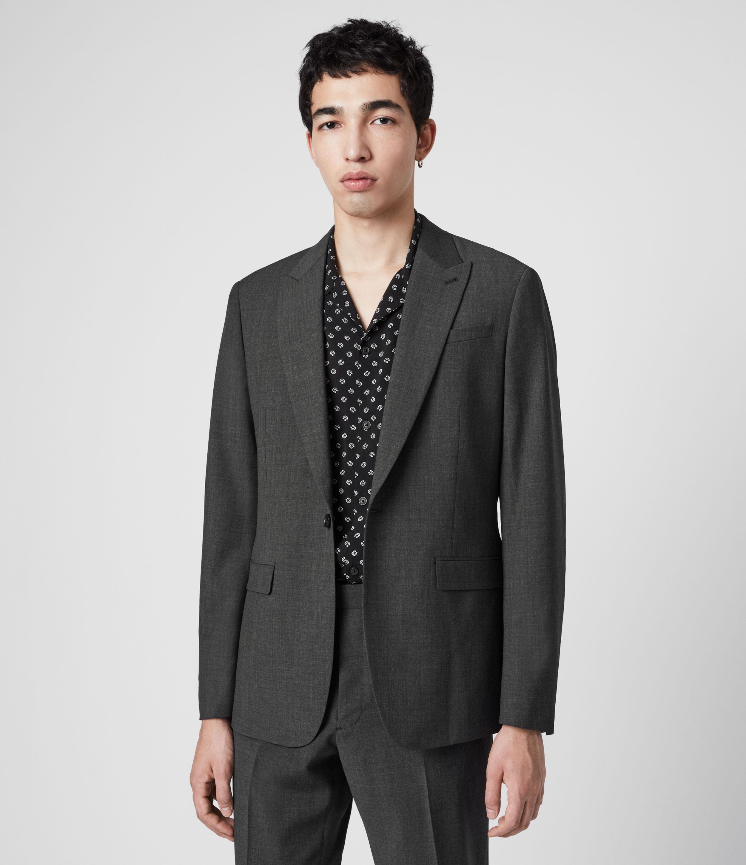 AllSaints Men's Wool Slim Fit Cleaver Blazer, Grey, Size: 40