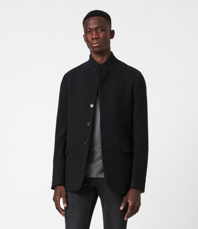 AllSaints Mens Biden Blazer, Black, Size: 34