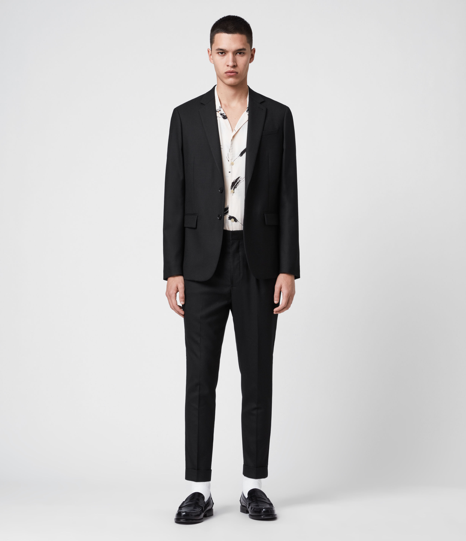 AllSaints Men's Lanark Blazer, Black, Size: 42