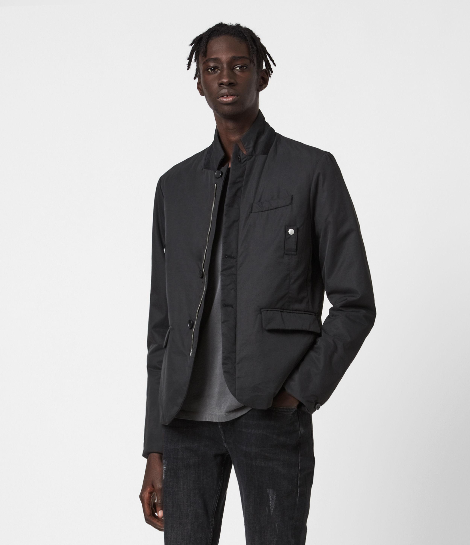 AllSaints Men's Westwater Blazer, Black, Size: 42